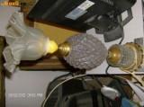 Veioza Superba Bronz Si Sticla Semi Cristal