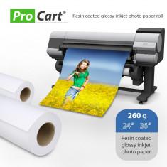 Rola hartie fotografica rc high glossy 260g latime rola 24 inch - Plotter