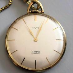 CIVIS - CEAS DE BUZUNAR PLACAT CU AUR - MECANIC - Ceas de buzunar vechi