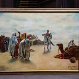 Tablou ulei pe panza -tematica orientala - Tablou autor neidentificat, Scene gen, Altul