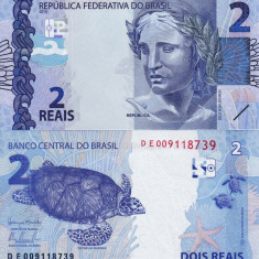 BRAZILIA 2 reais 2010 UNC!!! - bancnota europa