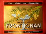 Eticheta de VIN Muscat de Frontignan -Franta , interbelic