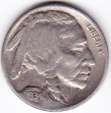 SUA USA 5 FIVE CENTS (Cent) 1934 buffalo+indian head,bizon+cap de indian, America de Nord