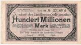 GERMANIA STADT SOLINGEN 100000000 MARK 1923 U