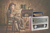 Radio Vintage Retro cu mp3 player si telecomanda, Digital, 0-40 W