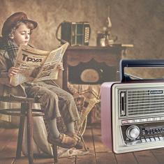 Radio Vintage Retro cu mp3 player si telecomanda - Aparat radio, Digital, 0-40 W