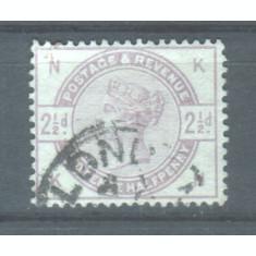 1883 Anglia Mi. 75 stampilat