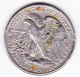 SUA USA Half Dollar 1945 argint 12,5 g 900/1000, America de Nord
