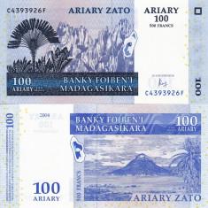 MADAGASCAR 100 ariary 2004 (2016) UNC!!! - bancnota africa