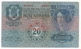 AUSTRIA  AUSTRO-UNGARIA  20 KRONEN  COROANE 1913  [22] VF ,  scrie si in romana