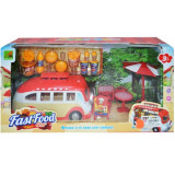 Set Fast-food cu microbuz si accesorii - Vehicul