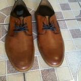 Pantofi casual bărbați din piele naturala Rieker - Pantofi barbat Rieker, Marime: 41-42, Culoare: Maro