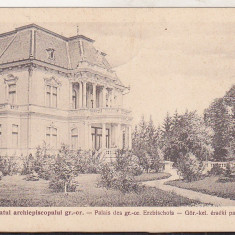 Bnk cp Sibiu - Palatul archiepiscopului gr-or - circulata 1930 - Carte Postala Transilvania dupa 1918, Printata