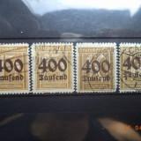 1923 Germania ( Reich ) Mi 297 - 300 Serie completa Cota = 22, 00 Euro., Stampilat