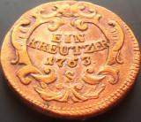 Moneda Ein Kreutzer- lit S, anul 1763 *cod 3091  = de COLECTIE!, Europa