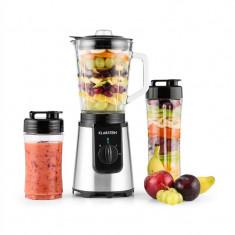 Klarstein Shiva Blender Smoothie Mini Blender de sticlă 0.8L cana 350W BPA-free inoxidabil negru, 300 W