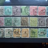 1923 Germania ( Reich ) Mi 313 - 330 Serie completa Cota = 110, 00 Euro., Stampilat
