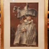 TABLOU, ION IANCUT, ORA INOROGULUI, pastel - Pictor roman