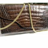 Geanta vintage piele exotica-geanta aligator-geanta crocodil autentica