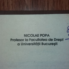 NICOLAE POPA - TEORIA GENERALA A DREPTULUI - Carte Teoria dreptului