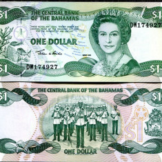 !!! F. RARR : BAHAMAS - 1 DOLAR 2002 - P 70 - UNC - bancnota america