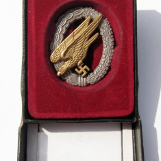 Insigna parasutist Luftwaffe Germania nazista vultur svastica