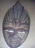 Masca antica lemn,masca veche lemn mahon,Sculptura lemn,Transport GRATUIT