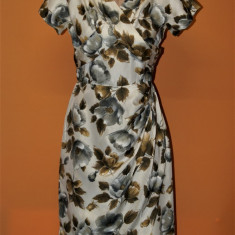 Rochie vintage din matase naturala Baher of Melbourne - Rochie de zi, Marime: S/M, Culoare: Multicolor