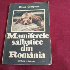 MITICA GEORGESCU - MAMIFERELE SALBATICE DIN ROMANIA - Carte Zoologie