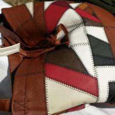 Geanta piele naturala colorata ITALIA NOUA - Geanta Dama Tommy Hilfiger, Culoare: Rosu, Marime: Mare, Geanta de umar
