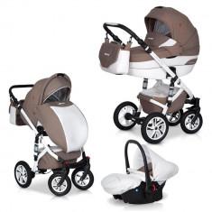 Caruciorul Durango 3 in 1 - Euro-Cart - Latte - Carucior copii 3 in 1