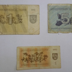 Lot Bancnote Lithuania, Europa