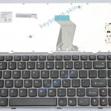 TASTATURA NOTEBOOK LENOVO Y570 US GREY FRAME BLACK L5601-GF - Tastatura laptop