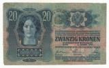 AUSTRIA  AUSTRO -UNGARIA  20  KRONEN  COROANE  1913  [05] TIMBRU SPECIAL ROMANIA
