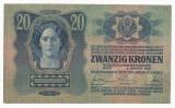 AUSTRIA  AUSTRO-UNGARIA  20 KRONEN  COROANE 1913  [4] XF+ ,  scrie si in romana