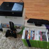 Xbox 360+Kinect sensor+Controler+ 20 Games