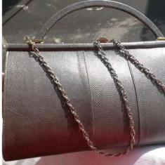 Geanta vintage piele exotica geanta soparla autentica