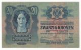 AUSTRIA  AUSTRO-UNGARIA  20 KRONEN  COROANE 1913  [2] XF++ ,  scrie si in romana
