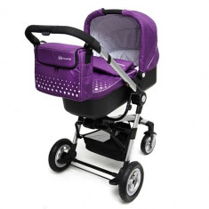 Carucior 3 in 1 Kraft Purple - Carucior copii 3 in 1 Kinderkraft