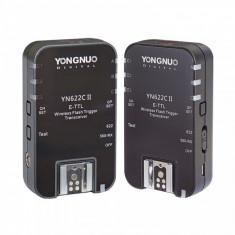 Set trigger + receptor Yongnuo YN622C II  1+1 buc. TTL Flash pentru Canon, Controller