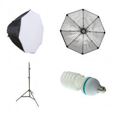 Kit lumina continua cu softbox octogonal 70cm - Blitz slave
