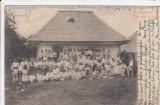 SATUL VALSANESTI - ARGES   O CASA DE TARA  PORT NATIONAL  CLASICA  CIRC. 1905, Circulata, Printata