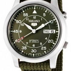 Seiko SNK805K2 ceas barbati nou 100% original. Garantie. - Livrare rapida. - Ceas barbatesc Seiko, Casual, Mecanic-Automatic, Inox, Material textil, Ziua si data
