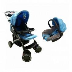 Cărucior nou născut 2 in 1 Baby Care K 719A - Albastru