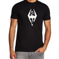 Tricou The Elder Scrolls V Skyrim Imperial Dragon Symbol Marime L - Tricou barbati