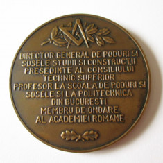 MEDALIE MASONICA INGINERII ROMANI RECUNOSCATORI INGINERULUI ELIE RADU 1853- 1931
