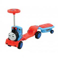 Masinuta de Impins 3 in 1 Transformabila Locomotiva Thomas cu Remorca