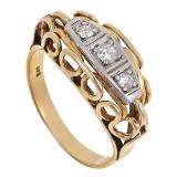 Inel Vintage Aur 14k Cu Diamante Ca 0 20 Ct