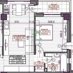 Comision 0 % - Rasarit de Soare Iasi - Apartamente cu 1, 2 sau 3 camere - Apartament de vanzare, 5 mp, Numar camere: 2, An constructie: 2017, Etajul 3