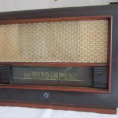 RADIO POPULAR ARMONIA S561A pe LAMPI, CASETA DE LEMN (LAMPILE TREBUIE INLOCUITE) - Aparat radio